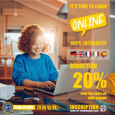 Cours de langues en ligne - Session mai