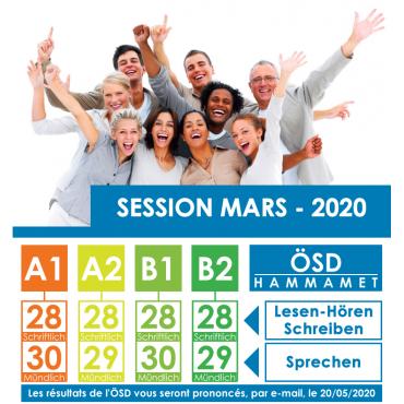 Examen ÖSD session Mars 2020